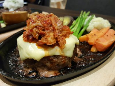 Shio & Pepe, Offering Japanese-Italian Cuisine At The Casual Dining Zone In Emporium Shokuhin - Hamburg Steak with Kimchi ($21.80++)