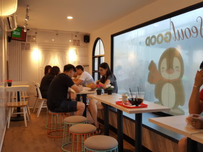 Seoul Good Desserts & Coffee At Punggol Containers Park - Interior Dining within Container