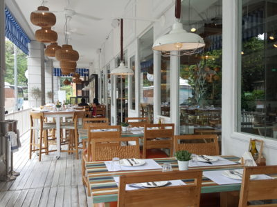 BAKALAKI Greek Taverna, A Rare Greek Restaurant With Mediterranean Ambience - Veranda Dining Area