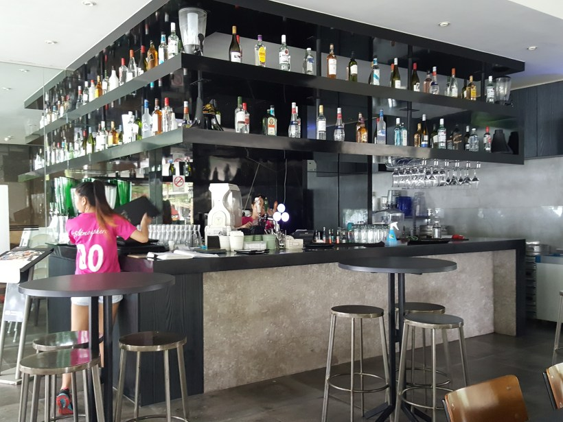 Atmosphere Bistro @ Parkland Green East Coast Park Revamped Menu - Bar counter
