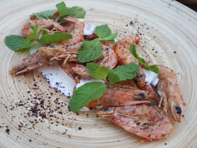 Tin Hill Social, Gorgeous Space With Delicious Food Near Perfection - Fried Kelong Prawns, Somac, Yoghurt, Mint ($14)