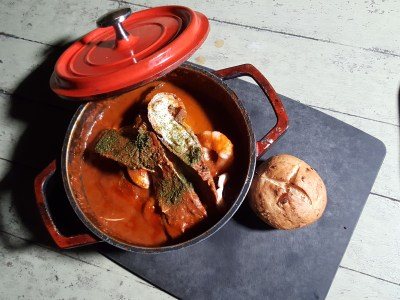 Tin Hill Social, Gorgeous Space With Delicious Food Near Perfection - Tin Hill Seafood Stew ($32)