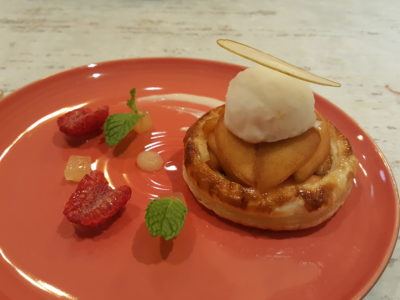 Blue Lotus @ Tanjong Pagar Centre, Delightful Dishes Well-Executed Dishes - Baked Cinnamon Apple Pie, Yuzu Sorbet ($12)