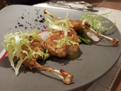 Vineyard At HortPark, Re-opened With Lushy Theme And Localised Menu - Walnut Crusted Bull Frog