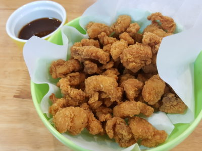 Burgerlicious Offering Unique Flavours Burgers At Jalan Pemimpin - Popcorn Chicken with Curry Ketchup