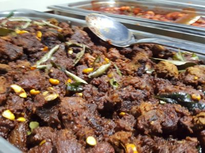 Gayatri Restaurant Catering Buffet Set With Non-Vegetarian and Vegetarian Option - Mutton Mysore