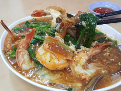 Kok Sen Restaurant At Keong Saik Street, A Michelin Bib Gourmand Restaurant - Big Prawn Hor Fun ($17.50 / $35 / $52.50)
