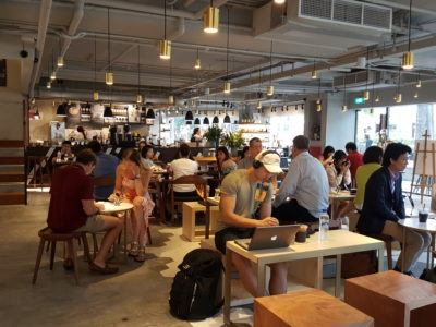 Mellower Coffee @ Bugis, Hail From Shanghai Offering Instagram-worthy Coffee and OOTD Ambience - Interior of first level