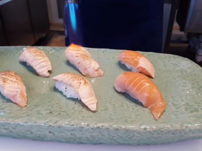 Sea & Blue Buffet Restaurant At Marina Bay Sands Offering Over 100 Dishes - Flaming Sashimi