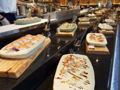 Sea & Blue Buffet Restaurant At Marina Bay Sands Offering Over 100 Dishes - Sushi Spread