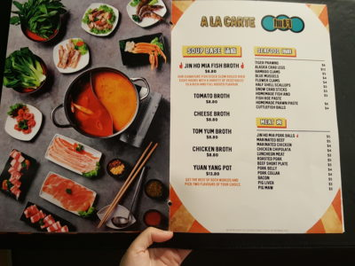Jin Ho Mia Rice Bowl and Hot Pot At Alexandra Retail Centre - Ala Carte Menu