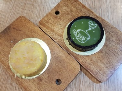SOD Cafe @ Ci Yuan Community Club With Very Affordable Mainly Under $15 For Mains - Lemong Pomelo Tart and Matcha Tart