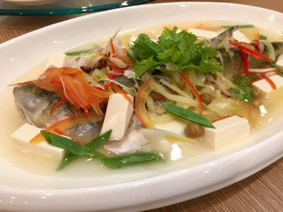 JOYDEN TREASURES Celebrates Its Second Anniversary With New Menu Line-up And Spruced Up Outlet - Steamed Young Threadfin with Pickled Chinese 'Olives' (树子蒸小午鱼 | market price)