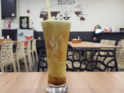 Caffe Zeppin At Midview City With An Array Of Offering With Taiwan Dishes As Signature - Avocado Milk with Gula Melaka ($4)