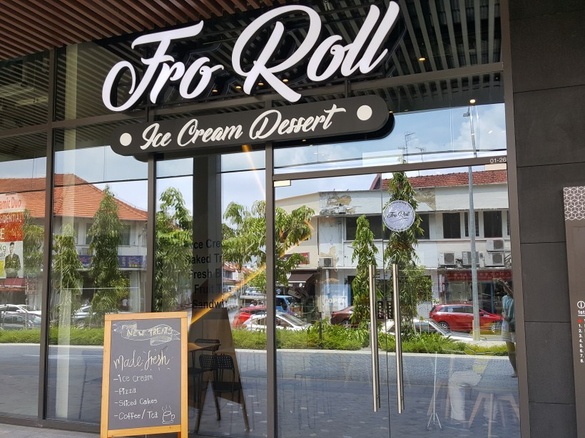 FroRoll Singapore, Not Your Usual Ice Cream Roll But Something More Worth Checking Out At The Venue Shoppes - FroRoll Facade