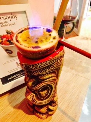 First And Only Hawaiian Tiki Bar At Aloha Poké Flagship In Singapore - Fiery Passion ($18)