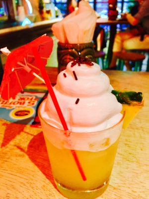 First And Only Hawaiian Tiki Bar At Aloha Poké Flagship In Singapore - Pineapple Welcome Drink