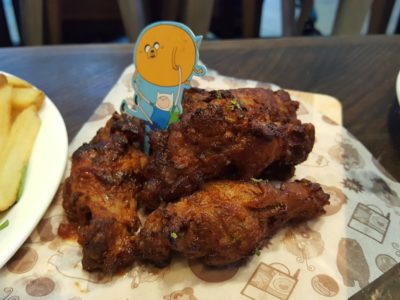 The Soup Spoon Union x Cartoon Network Cafe At Punggol Waterway Point Featuring Powerpuff Girls, Ben 10, Adventure Time and We Bare Bears - Adventure Time BBQ Drumlets ($8.90)