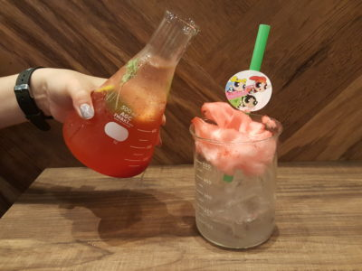 The Soup Spoon Union x Cartoon Network Cafe At Punggol Waterway Point Featuring Powerpuff Girls, Ben 10, Adventure Time and We Bare Bears - Blossom Strawberry Soda ($10.90)