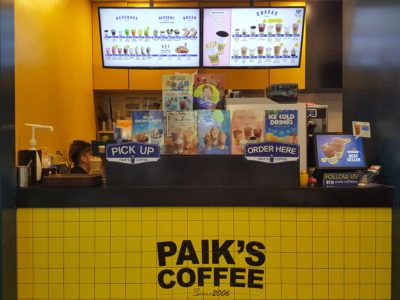 Paik's Coffee Korean Smoothies, Launched Three New Flavours Available At All Outlets - Paik's Coffee at MBC counter