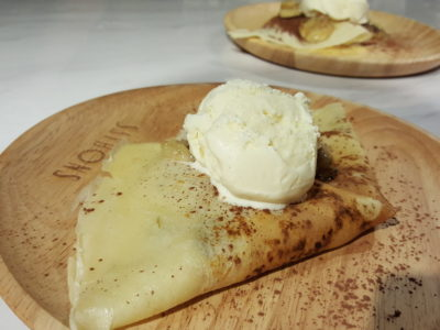 Saybons Celebrates 10th Anniversary With New Menu, New Look and Anniversary Special, Downtown Gallery - Rum & Raisin Flambéed Crepe ($9)