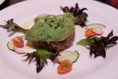 Burlamacco Ristorante Sunday Recovery Brunch Menu - Hand Chopped Red Tuna Tartar Served with Avocado 'Battuta'