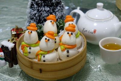 Yum Cha Christmas Special Dim Sum Treat At Treggannu Street - Snowman Bao ($3.80++ for 1 pc)