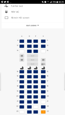 Flying Singapore Airlines Business Class From Singapore - Seats Plan