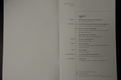 Flying Singapore Airlines Business Class SQ336 From Singapore To Paris - Super Menu