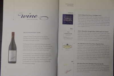 Flying Singapore Airlines Business Class SQ336 From Singapore To Paris - Wine Menu Continued