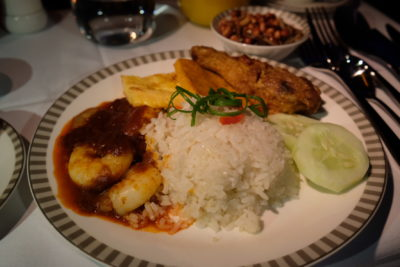 Business Class SQ336 From Singapore To Paris - Nasi Lemak
