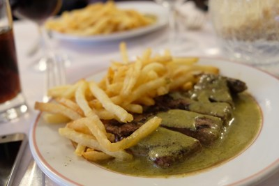 Le Relais de l'Entrecôte, A Typical French Restaurant Serving Free-Flow Of Steak And Fries - Steak Frites