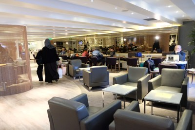 Star Alliance Business Class Lounge at Paris Charles de Gaulle Airport - View from the Entrance