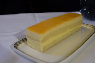 Singapore Airlines Business Class SQ333 From Paris To Singapore Flight Journey Review - Amaretto Mandarin Orange Cake