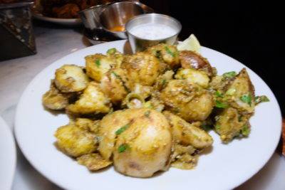 Dishoom, Old Irani Cafes Of Bombay In The Heart Of London At King's Cross - Gunpowder Potatoes (£6.50)