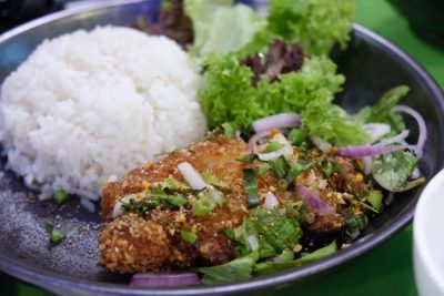 Bangkok Jam New Refreshing Menu Available At All Outlets - Deep-Fried Chicken Cutlet with Thai Jasmine Rice