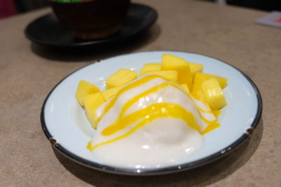 Kra Pow At Far East Plaza Has Delicious Authentic Thai Food And Yet Affordable - Mango Sticky Rice