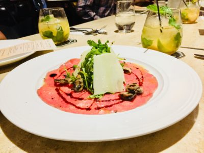 District 10 @ UE Square Filled With Pezzera's Family Favourites - Wagyu Beef Carpaccio