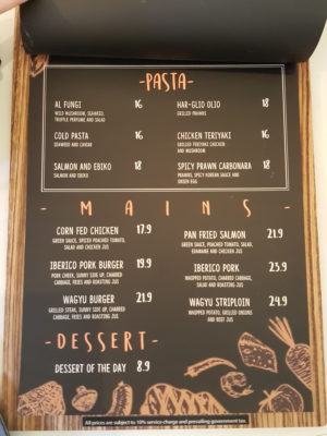 Ta-Da! The Bistro At Manualife Centre With Chef Formerly From Joel Robuchon - Pasta and Mains Menu