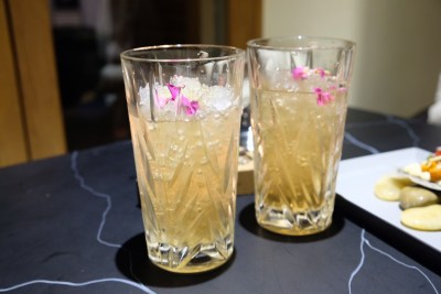 Saucy x Caffe B Special Collaboration With Uni Love At Club Street - Rose Bud Tea