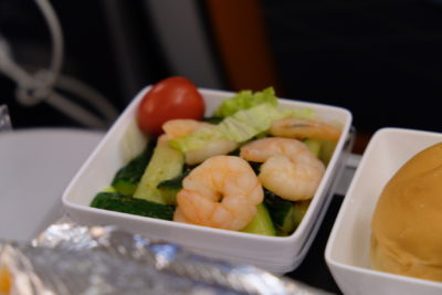 Flying Singapore Airlines Premium Economy SQ833 From Shanghai To Singapore - Wine Marinated Shrimp