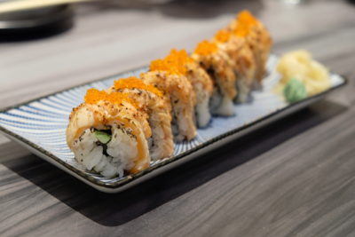 En Sushi At Prinsep Street Offering Reasonable Price Range Japanese Food - Salmon Aburi Mentai Maki ($14.90)