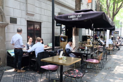 Cobra Lily, Based On The Eyes Of A Fictional Lady, At Xintiandi - Al Fresco dinning