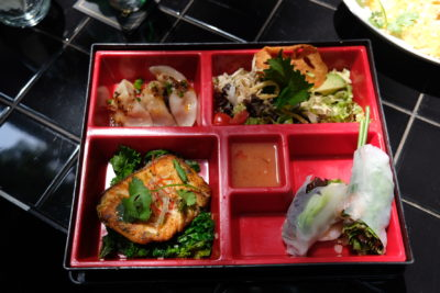Cobra Lily, Based On The Eyes Of A Fictional Lady, At Xintiandi - Ginger Grilled Salmon Bento Lunch (88 RMB)