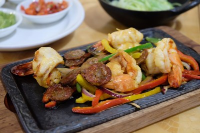Tortilla Wraps at Singapore Marriott Tang Plaza Hotel Crossroad Cafe - Chorizo Prawns ($35++)