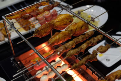 The Hungry Caveman At Orchard Central, Good Review For BBQ In Dianping Shanghai - Resting the skewers