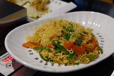 The Hungry Caveman At Orchard Central, Good Review For BBQ In Dianping Shanghai - Special Fried Noodles ($8.80)
