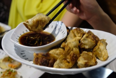 The Hungry Caveman At Orchard Central, Good Review For BBQ In Dianping Shanghai - Fried Pork Dumpling With Cabbage ($9.50/12pcs)