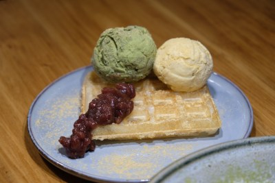 Yuzutei At Pasir Pahang Road Offers Flavourful Yuzu Shabu Shabu And Hot Stone Grill - Moffle with Ice Cream ($6.90 with 2 flavours)