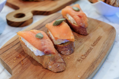 The Cheese Artisans At Greenwood Avenue Has More Than Cheeses - Smoked Salmon Crostini ($10 for 3 pcs)